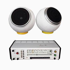 Radio RK5 con altoparlanti Sensit K20 di Karl Clauss Dietel & Lutz Rudolph per HELI