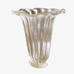 Vase en Cristal de Murano par Toso pour Toso, Italie, 1950s