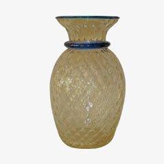 Mid Century Venetian Crystal Vase, 1950s