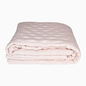 Trapunta Tufted Rose Linen Quilt di Once Milano