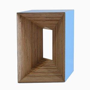 Plywood Stool blau di Studio Deusdara