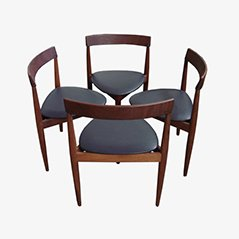 Sedie da pranzo compatte di Hans Olsen per Frem Rojle, set di 4