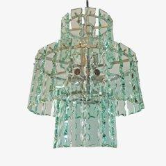 Mid-Century Glas Kronleuchter