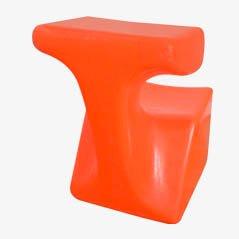 Sedia da bambino Zocker arancione di Luigi Colani per Top System Burkhard Lübke, 1971