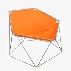 Sedia Penta arancione di Jean-Paul Barry & Kim Moltzer per Wilhelm Bofinger, anni '60