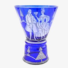 Vintage Pokalglas von Josef Hoffmann für Wiener Werkstätte