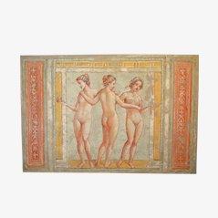 Azulejo mural con fresco de las tres Gracias de Artestudio