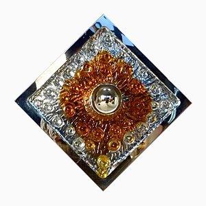 Lampada vintage in vetro colorato di Mazzega