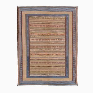 Earth-Tone Fine Soumak Carpet from Artisans in Iran, 2003