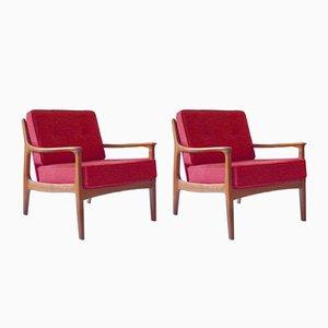 Organische Sessel von Eugen Schmidt für Soloform, 1960er, 2er Set