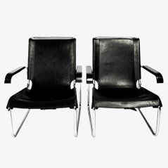 B35 Lounge Chairs by Marcel Breuer for Thonet, Set of 2