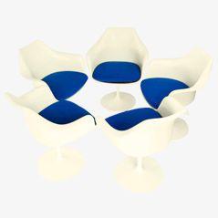 Tulpe Stühle von Eero Saarinen für Knoll, 1970er, 5er Set