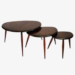 Pebble Nesting Tables by Lucian Ercolani for Ercol, 1950s, Set of 3