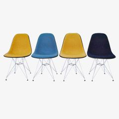 DSW Chair von Charles & Ray Eames für Herman Miller, 1950er, 4er Set