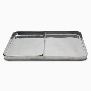 Masai Rectangular Trays in Polished Metal by Aldo Cibic for Paola C., Set of 2