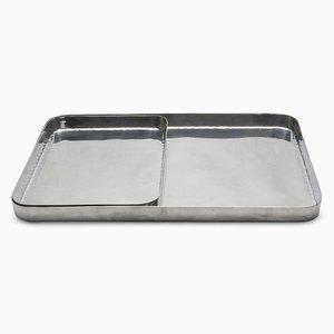 Rechteckige Masai Tabletts aus poliertem Metall von Aldo Cibic für Paola C., 2er Set