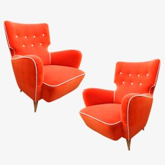 Calysse Armchairs by Henri Caillon for Erton Edition, Set of 2