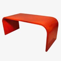 Roter Vintage Schreibtisch, 1960er
