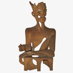 Escultura con monograma de David M Earth, años 80