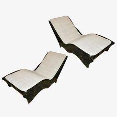 Chaise longues vintage, años 70. Juego de 2