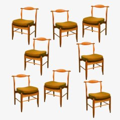 Dining Chairs by Guillerme & Chambron, 1960s, Set of 8