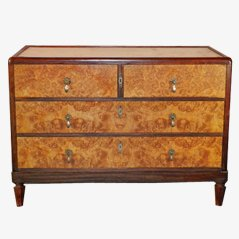 Vintage Large Art Deco Chest of Drawers, 1940s