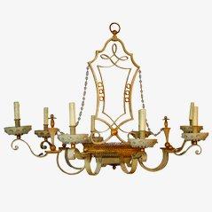 Lámpara de araña de Maison Bagues, años 50
