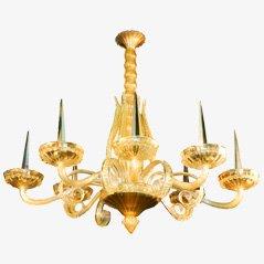 Lámpara de araña de Andre Arbus para Veronese Editions, años 40