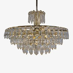 Mid-Century Crystal Chandelier from Bakalowits, 1950s