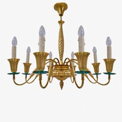 Bronze and Crystal Chandelier from Fontana Arte, 1940s
