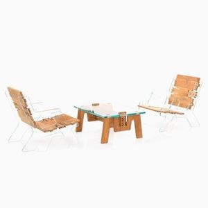 Chaises et Table Basse CLICLounge Glass Miami par Alexander Pelikan, Set de 2