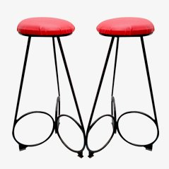 Mid Century Bar Stools, 1950s, Set of 2