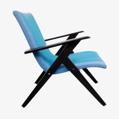Mid-Century Armchair in Blue, 1950s
