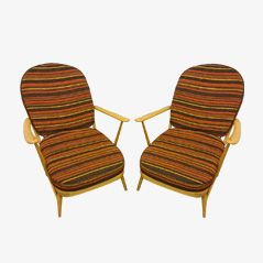 Model 203 Windsor Easy Chairs by Lucian Ercolani for Ercol, Set of 2