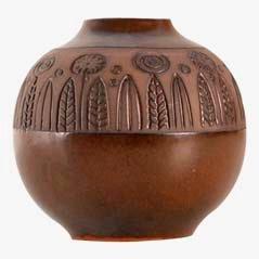 Vaso rotondo di Goran Andersson per Upsala Ekeby, anni '60