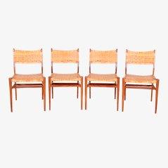 Chaises de Salon par Aksel Bender-Madsen, Danemark, 1950s, Set de 4