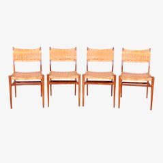 Danish Dining Chairs by Aksel Bender-Madsen, 1950s, Set of 4