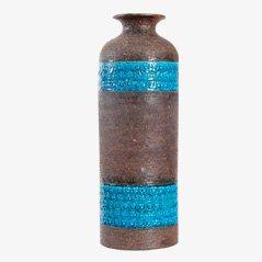 Jarrón danés de cerámica de Aldo Londi para Bitossi Ceramiche