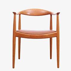 Fauteuil The Chair Scandinave par Hans J. Wegner pour Johannes Hansen