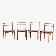 Sedie da pranzo di Henry Rosengren Hansen per Brande Møbelindustri, set di 4
