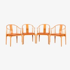 China Chair Model 4283 Dining Chairs by Hans J. Wegner for Fritz Hansen, Set of 4
