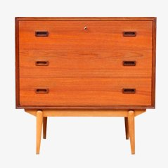 Danish Teak Secretary by Børge Mogensen for Søborg Møbelfabrik