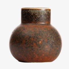Vase, Modèle CEA, Brun par Carl Harry Stålhane pour Rörstrand