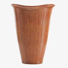 Scandinavian Brown Vase by Gunnar Nylund for Rörstrand