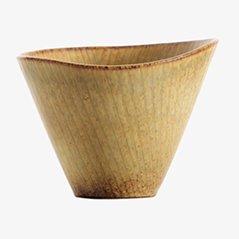 Braune Skandinavische Keramik Schüssel von Rörstrand