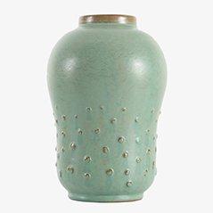 Vaso in ceramica di Ewald Dahlskog per Bo Fajans, Scandinavia