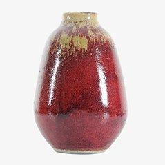 Rote Skandinavische Keramik Vase von Henning Nilsson für Höganäs