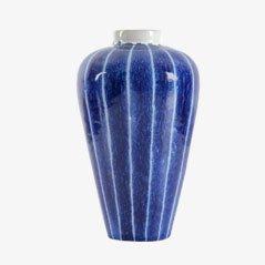 Jarrón escandinavo de cerámica rayada de Ingrid Atterberg para Upsala Ekeby
