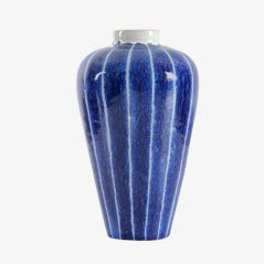 Scandinavian Striped Ceramic Vase by Ingrid Atterberg for Upsala Ekeby