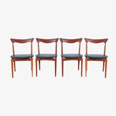 Teak Dining Chairs by Henry Walter Klein for Bramin, Set of 4